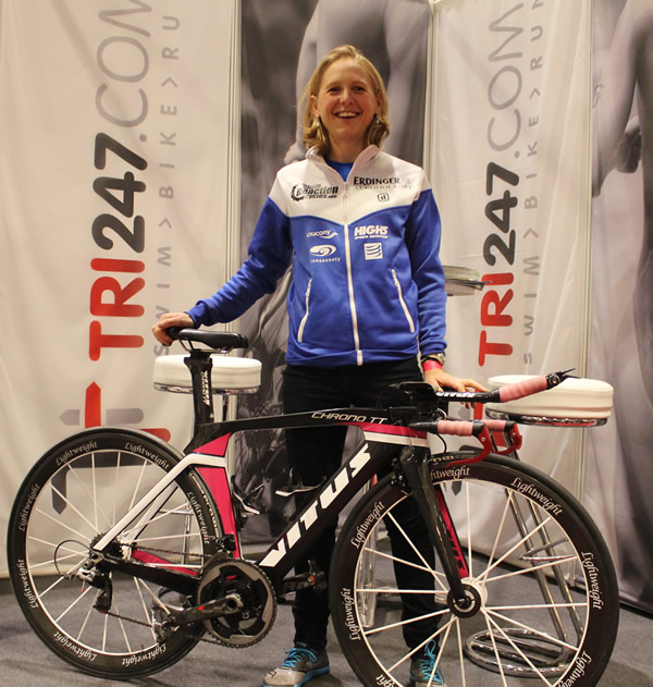 Lucy Gossage with her Vitus Chrono2